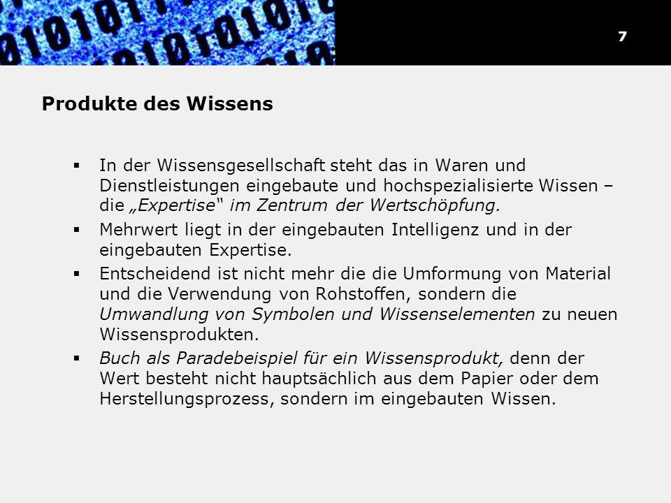 """""""Wissensarbeiter und """"Symbolanalytiker"""