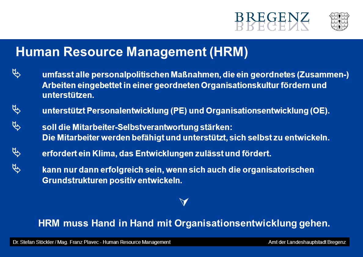 Human Resource Management (HRM)