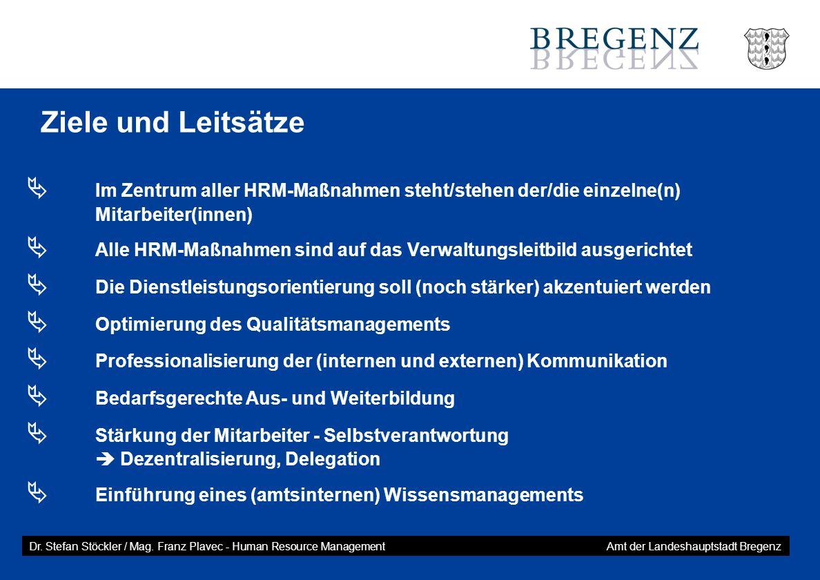Ziele und Leitsätze  Im Zentrum aller HRM-Maßnahmen steht/stehen der/die einzelne(n) Mitarbeiter(innen)