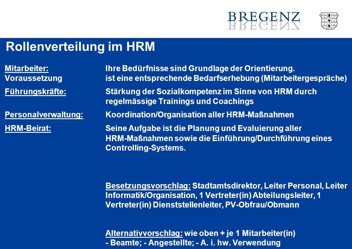 Rollenverteilung im HRM