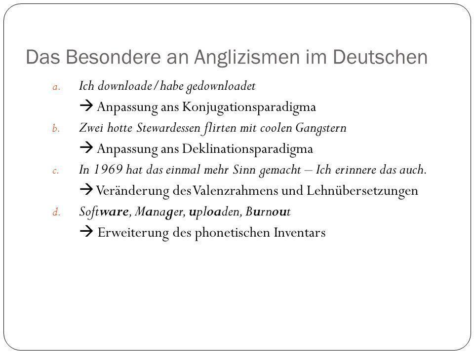 Das Besondere an Anglizismen im Deutschen