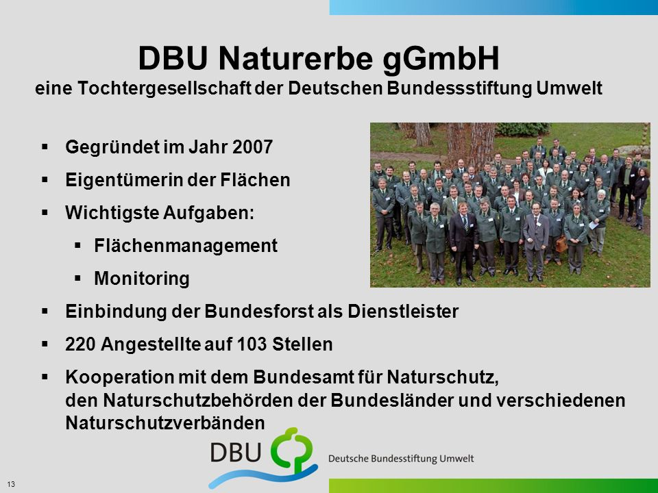 DBU Naturerbe gGmbH eine Tochtergesellschaft der Deutschen Bundessstiftung Umwelt