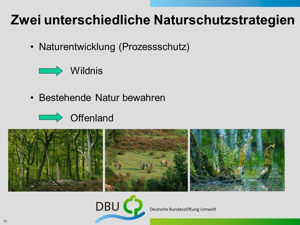 Zwei unterschiedliche Naturschutzstrategien