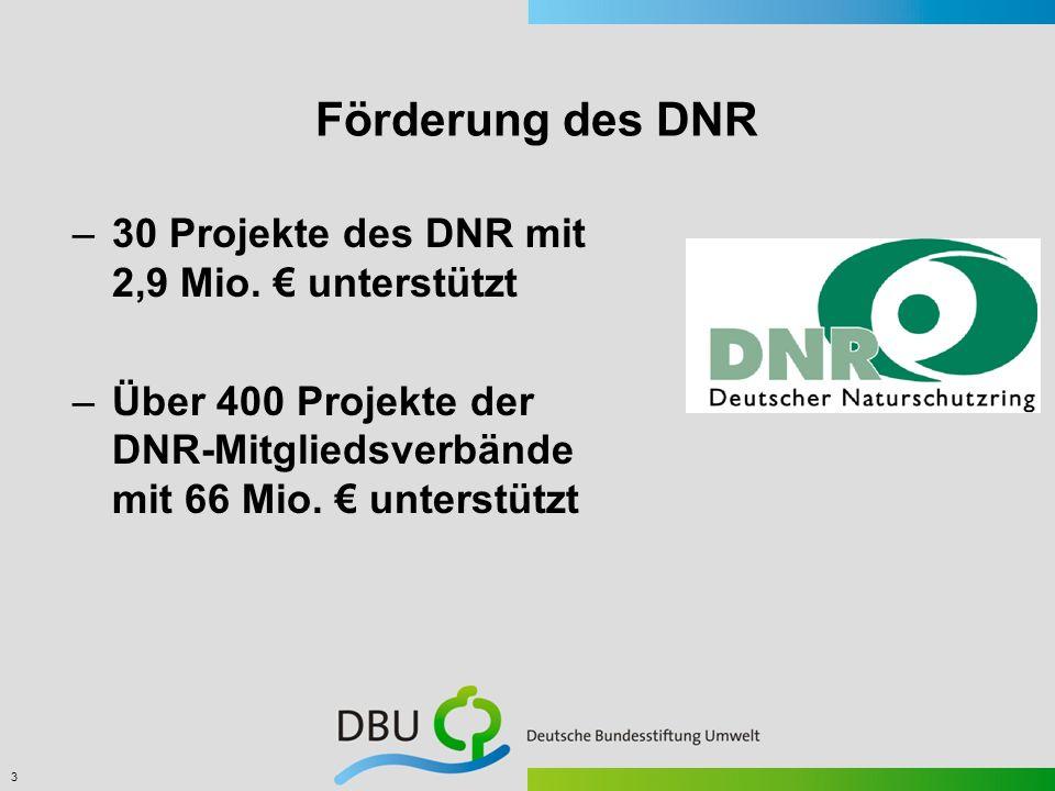 Förderung des DNR 30 Projekte des DNR mit 2,9 Mio. € unterstützt
