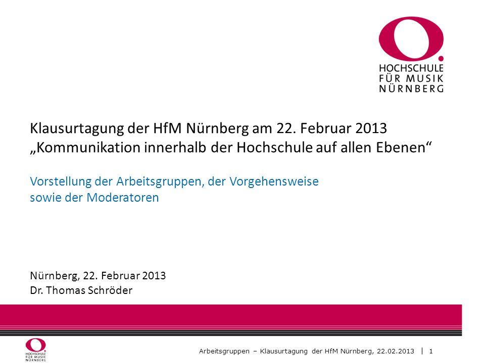 Klausurtagung der HfM Nürnberg am 22