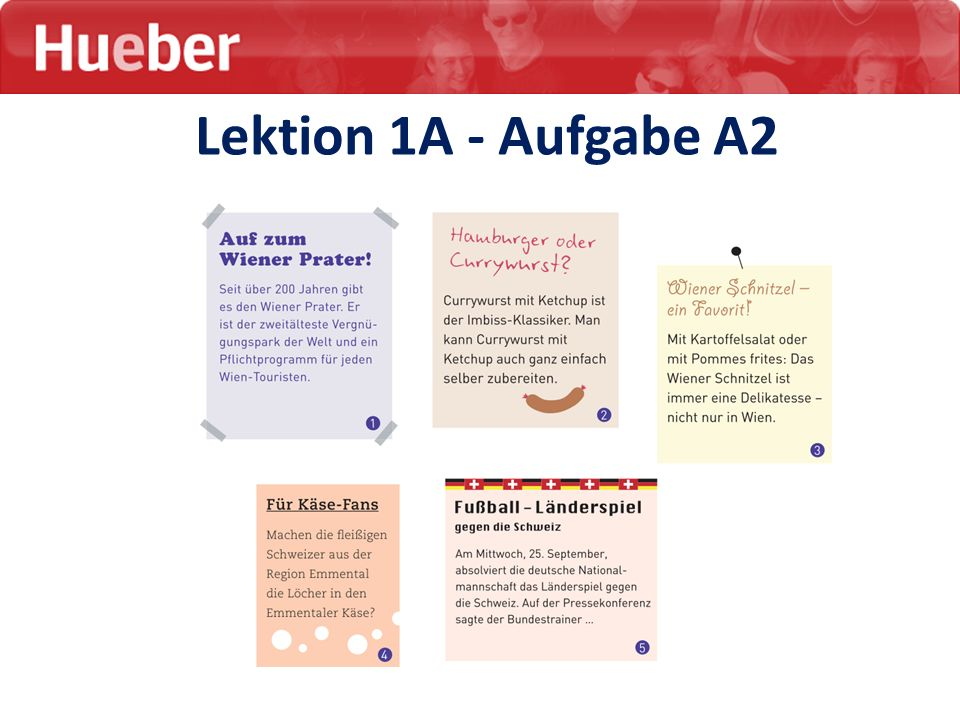 Lektion 1A - Aufgabe A2