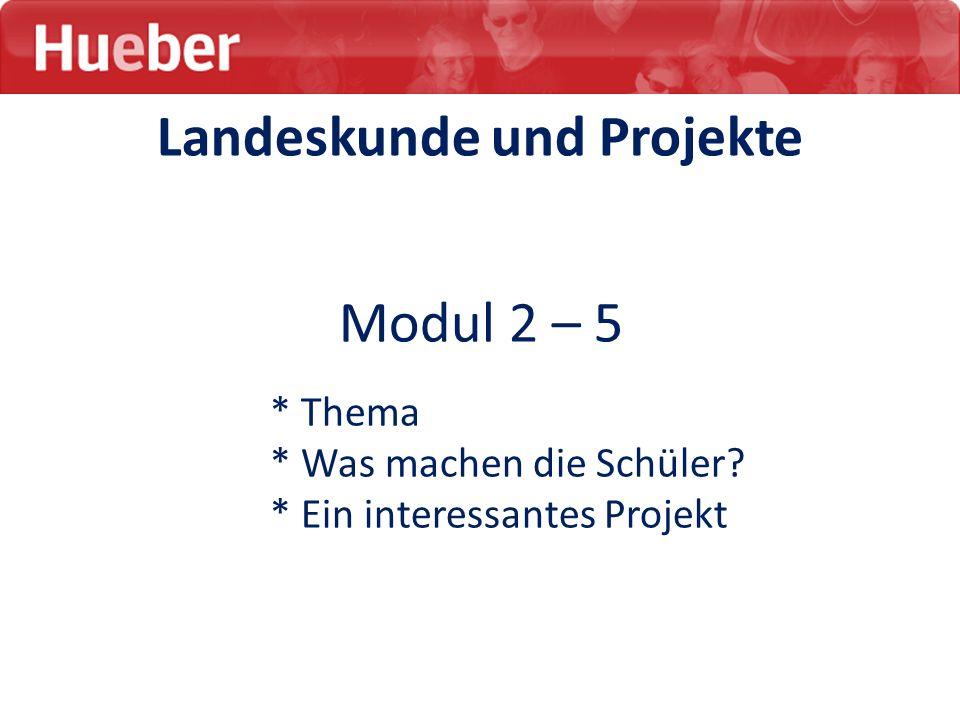 Landeskunde und Projekte