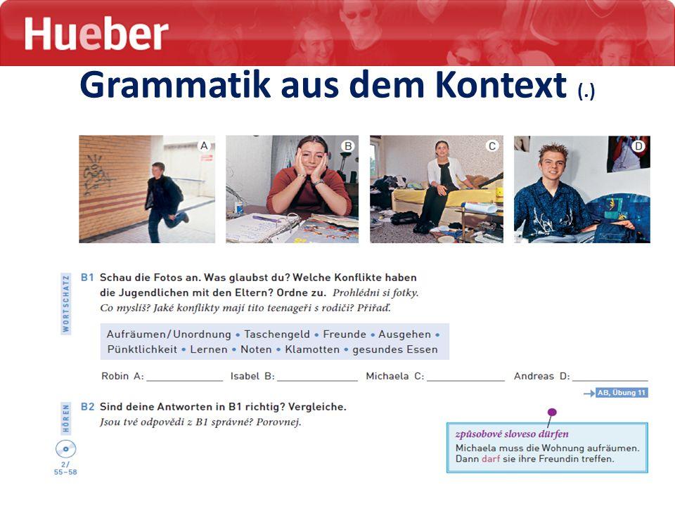 Grammatik aus dem Kontext (.)