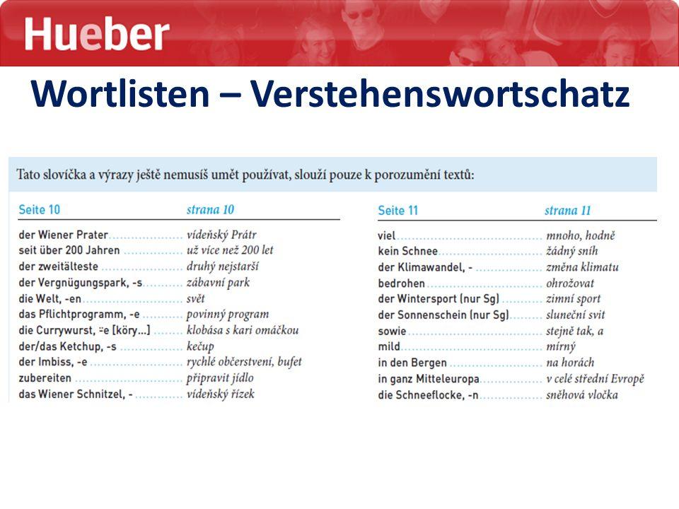 Wortlisten – Verstehenswortschatz