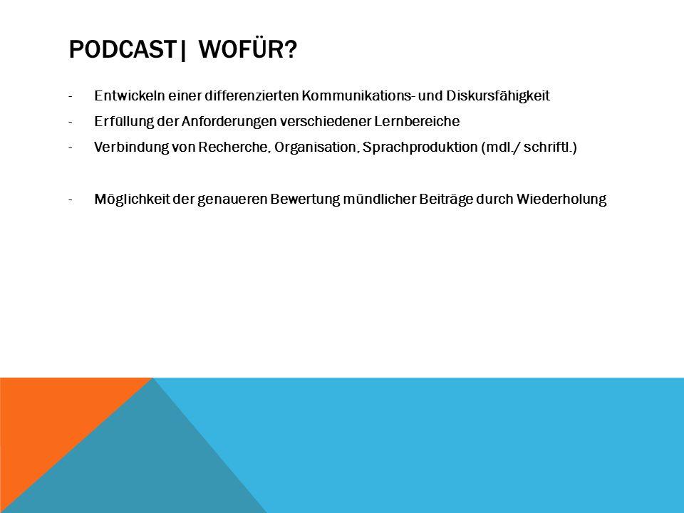 Podcast| Wofür Entwickeln einer differenzierten Kommunikations- und Diskursfähigkeit. Erfüllung der Anforderungen verschiedener Lernbereiche.
