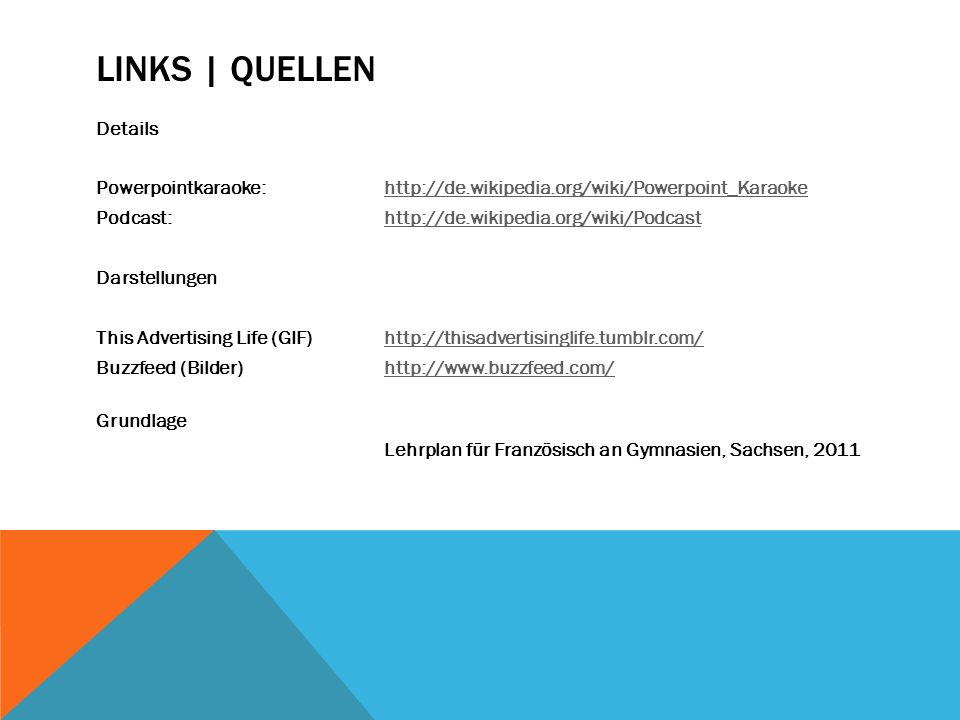 Links | Quellen Details