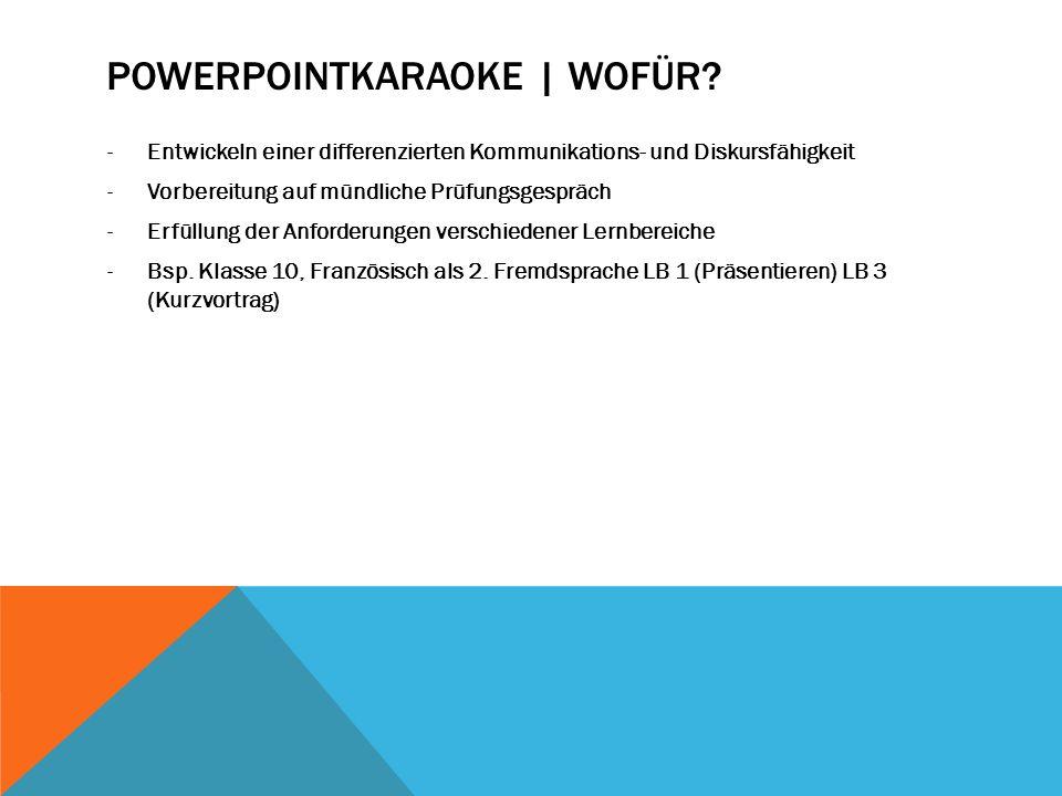 Powerpointkaraoke | Wofür