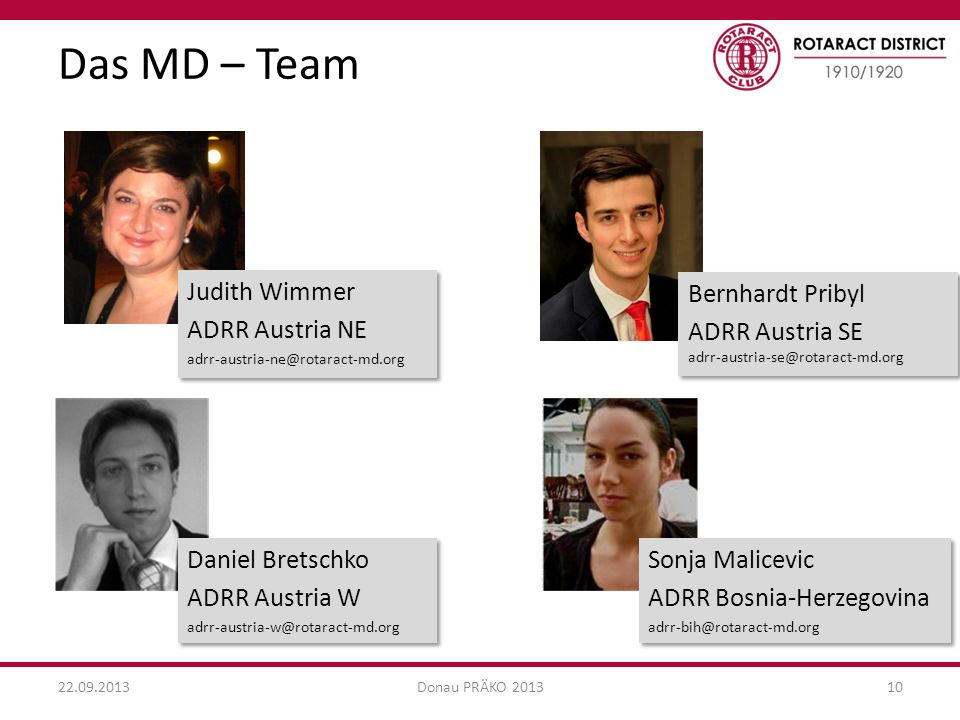 Das MD – Team Judith Wimmer ADRR Austria NE Bernhardt Pribyl