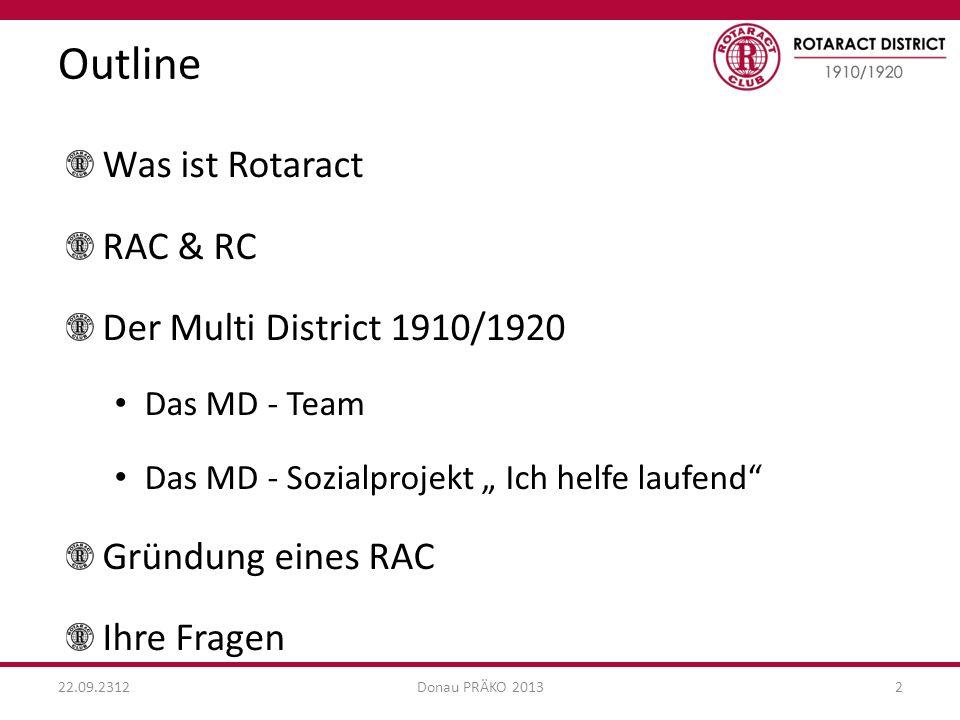 Outline Was ist Rotaract RAC & RC Der Multi District 1910/1920