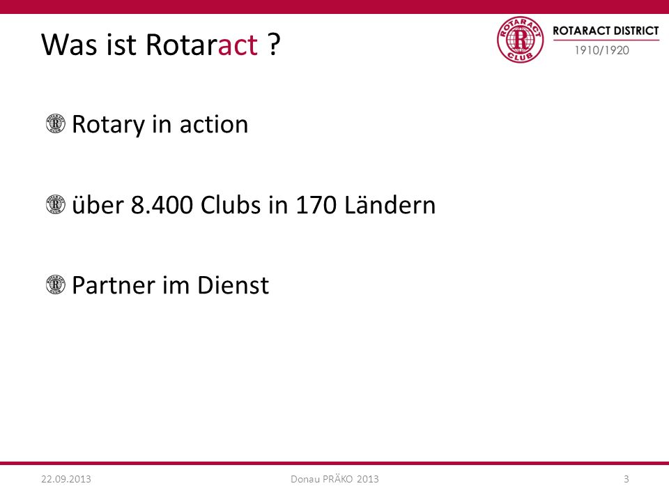 Was ist Rotaract Rotary in action über 8.400 Clubs in 170 Ländern