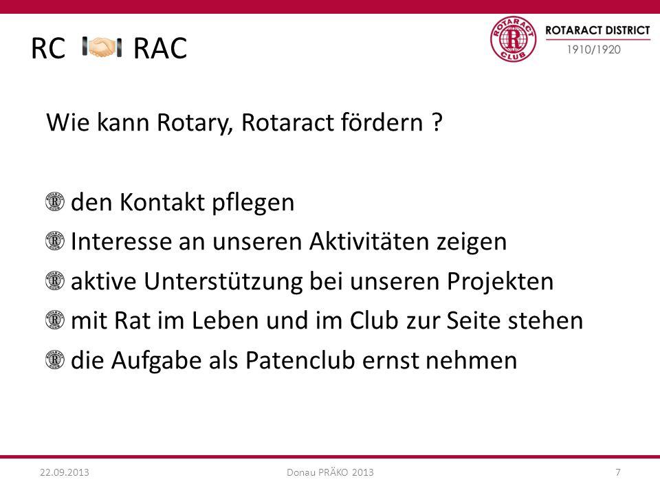 RC RAC Wie kann Rotary, Rotaract fördern den Kontakt pflegen
