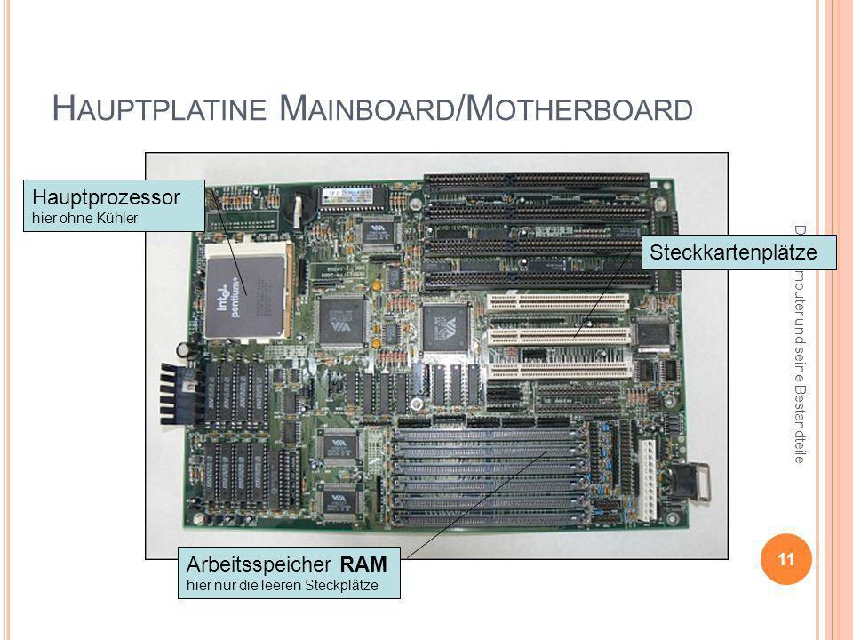 Hauptplatine Mainboard/Motherboard