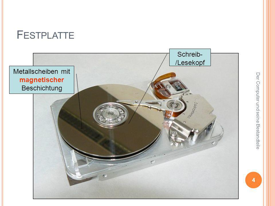 Metallscheiben mit magnetischer Beschichtung