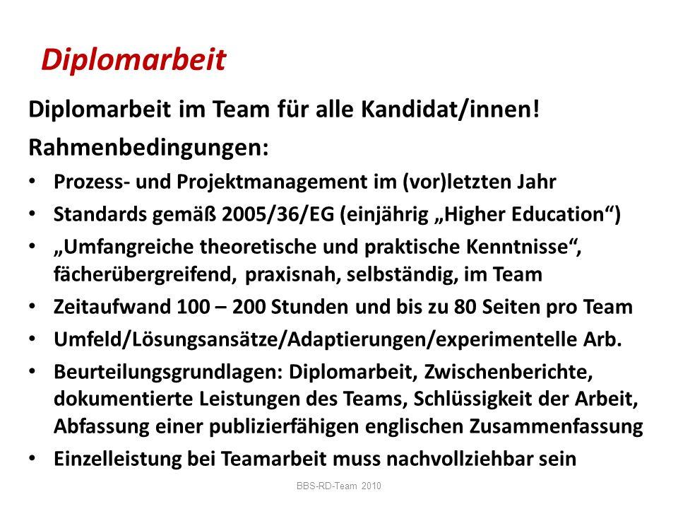 Diplomarbeit Diplomarbeit im Team für alle Kandidat/innen!