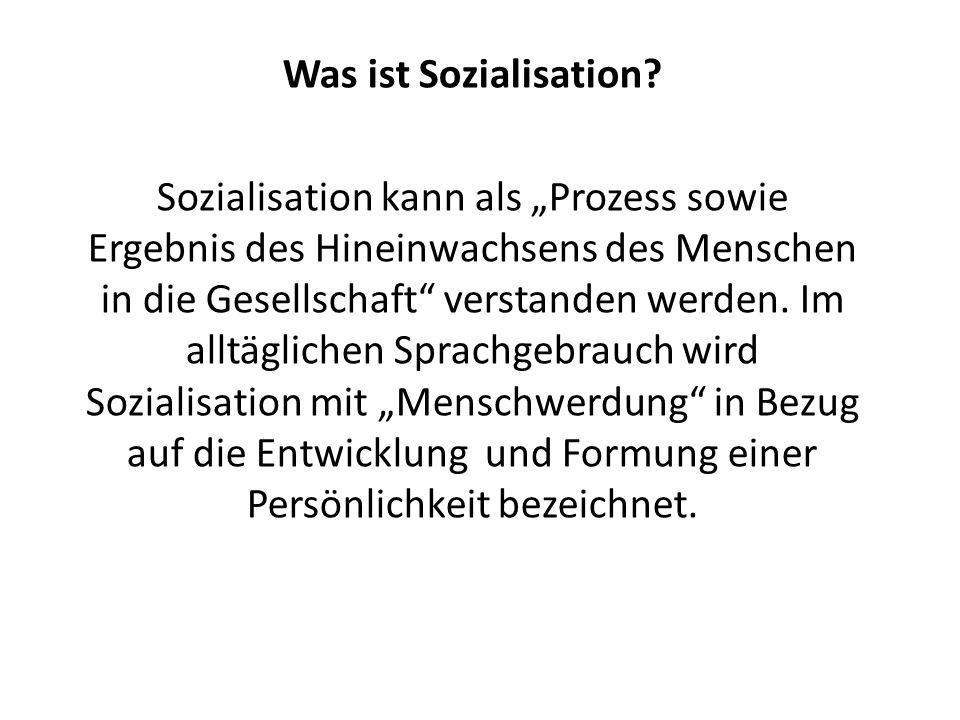 Was ist Sozialisation