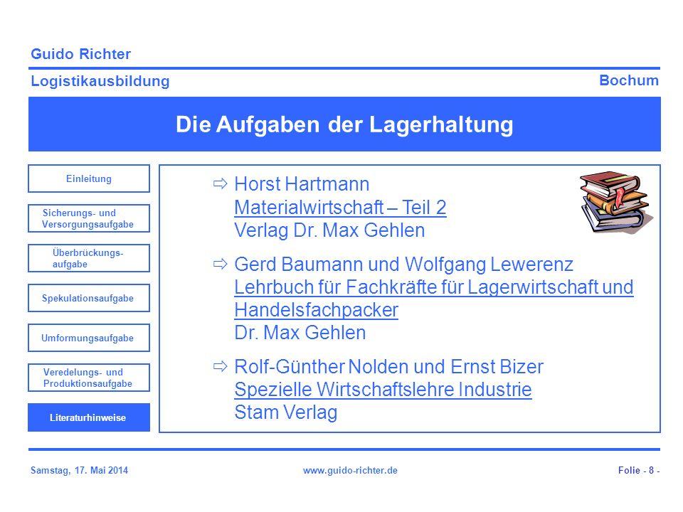 Horst Hartmann Materialwirtschaft – Teil 2 Verlag Dr. Max Gehlen