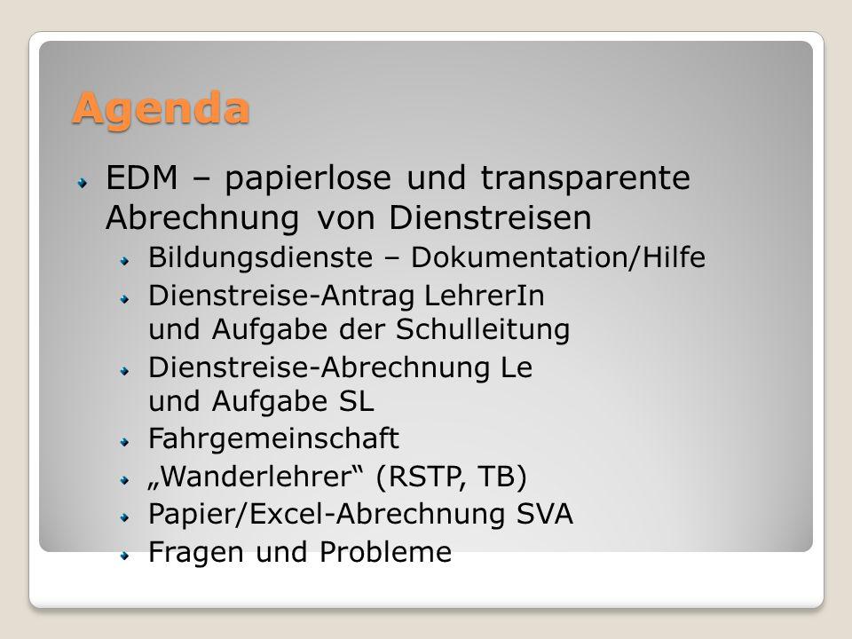 Agenda EDM – papierlose und transparente Abrechnung von Dienstreisen