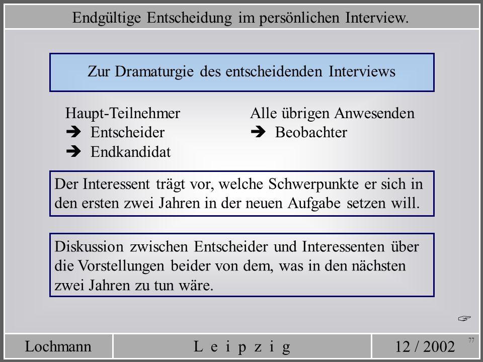 Zur Dramaturgie des entscheidenden Interviews