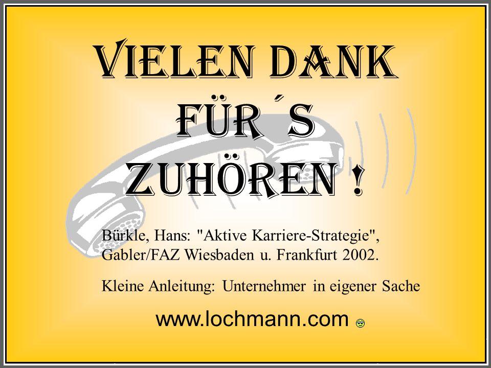 Vielen Dank für´s Zuhören ! www.lochmann.com