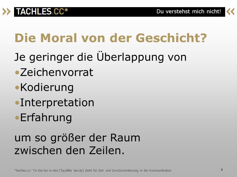 Die Moral von der Geschicht