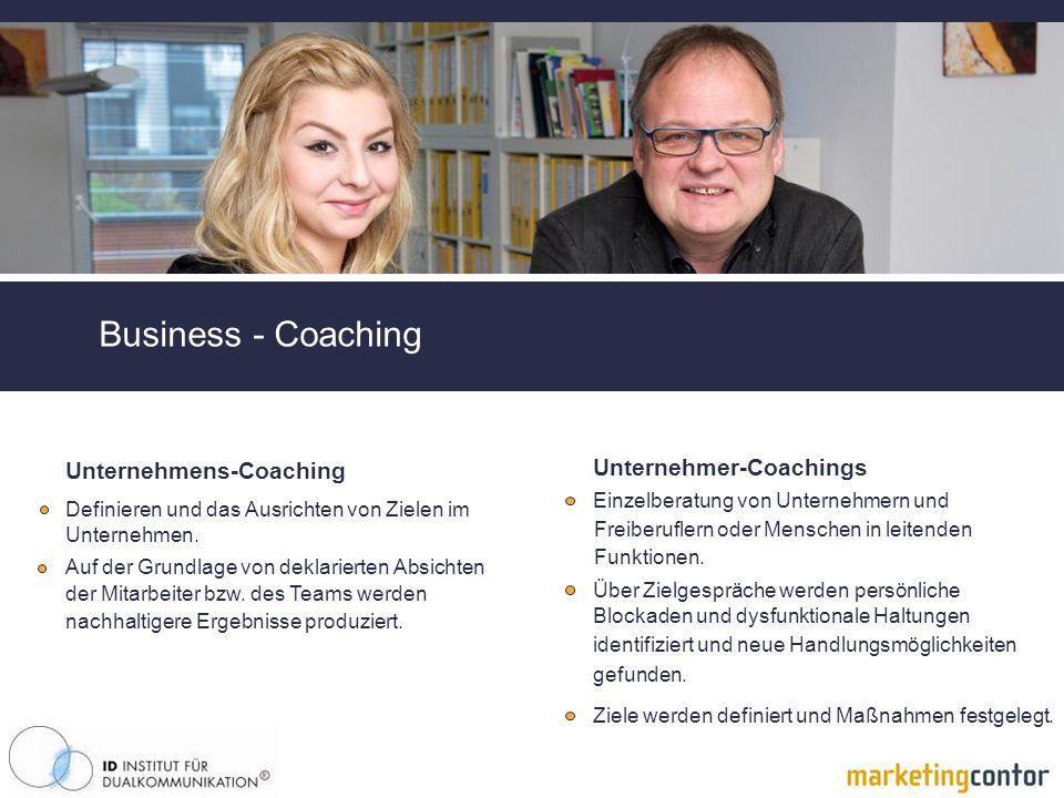 Business - Coaching Unternehmer-Coachings Unternehmens-Coaching