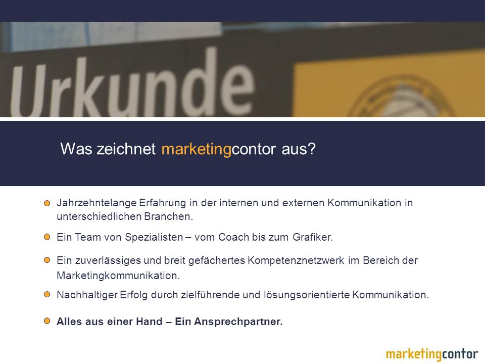 Was zeichnet marketingcontor aus