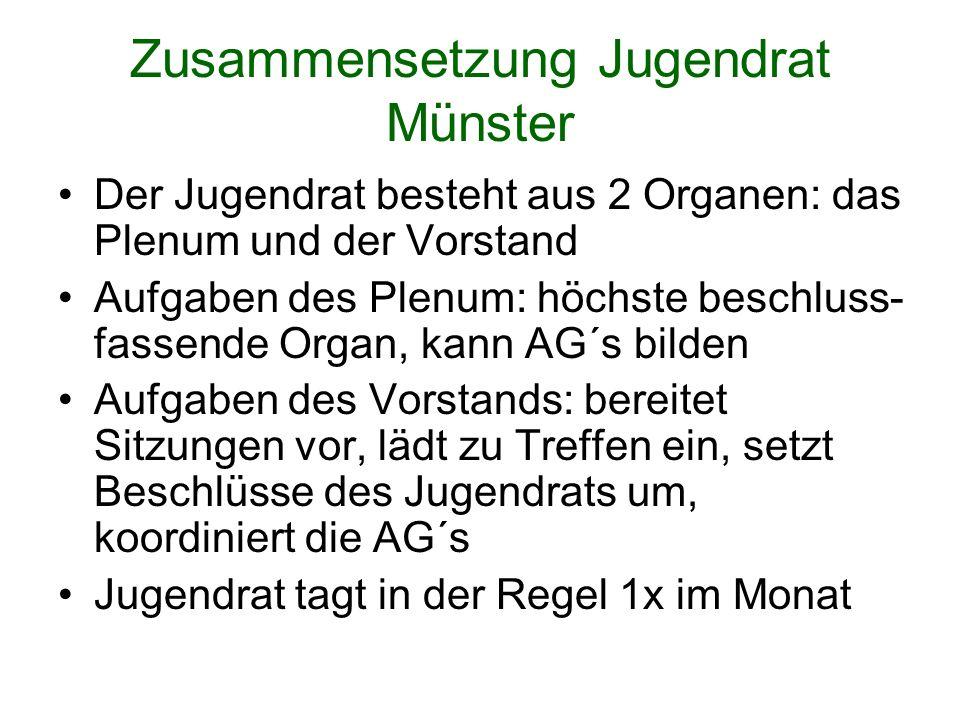 Zusammensetzung Jugendrat Münster