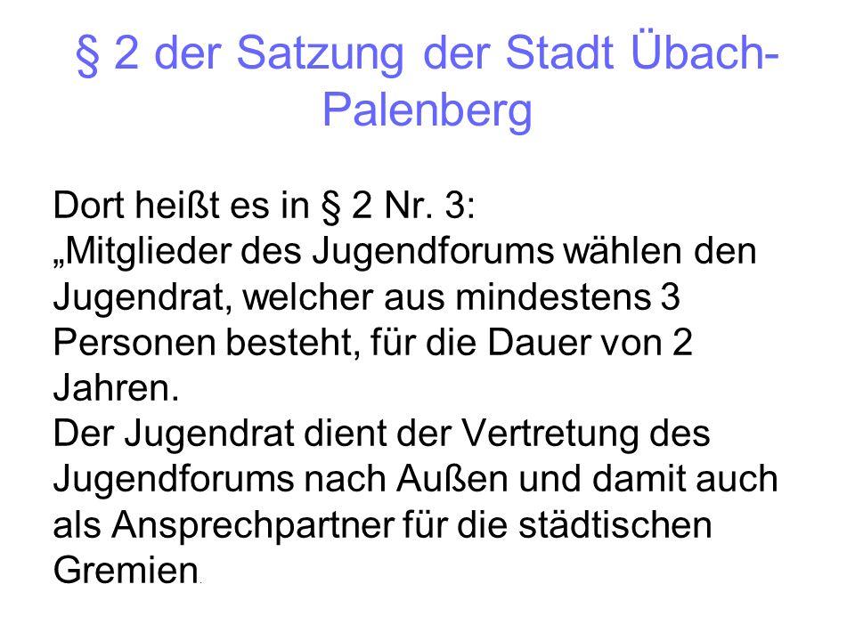 § 2 der Satzung der Stadt Übach-Palenberg