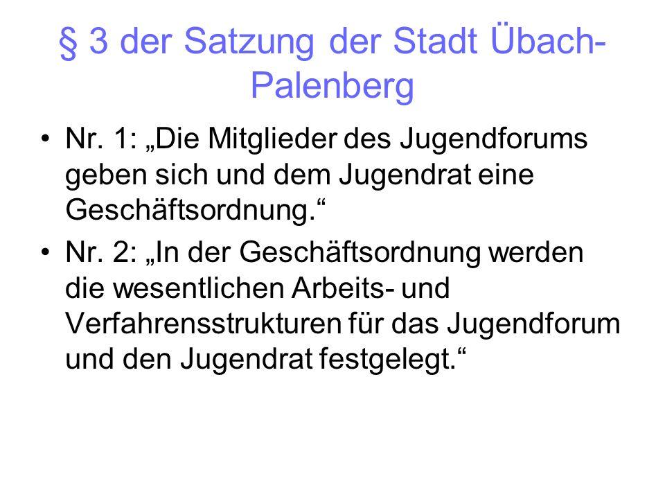 § 3 der Satzung der Stadt Übach-Palenberg