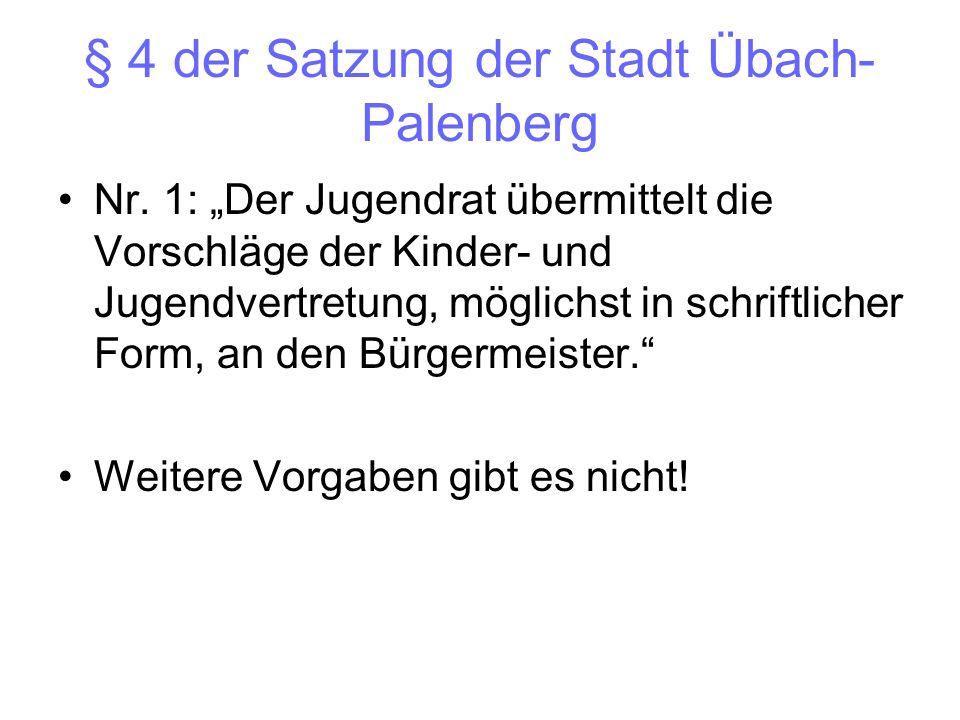 § 4 der Satzung der Stadt Übach-Palenberg