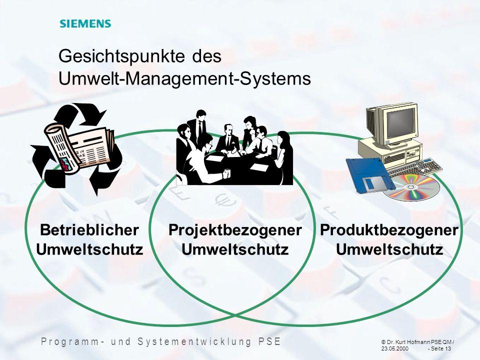 Gesichtspunkte des Umwelt-Management-Systems