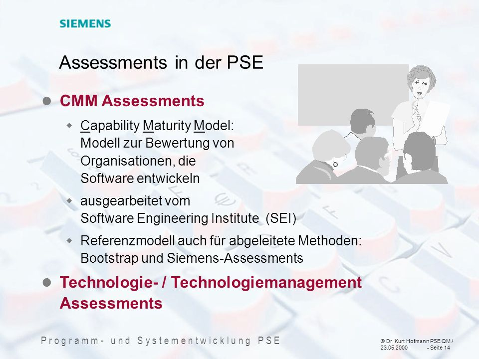 Assessments in der PSE CMM Assessments