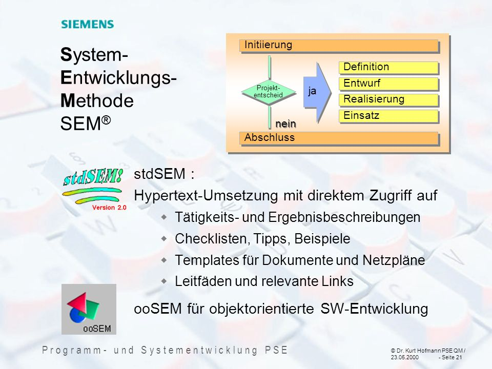System- Entwicklungs- Methode SEM®