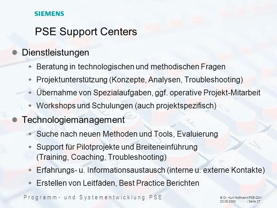 PSE Support Centers Dienstleistungen Technologiemanagement