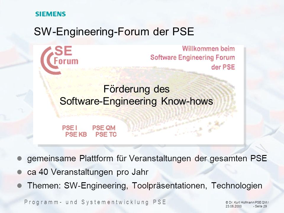 SW-Engineering-Forum der PSE