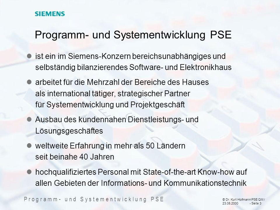 Programm- und Systementwicklung PSE
