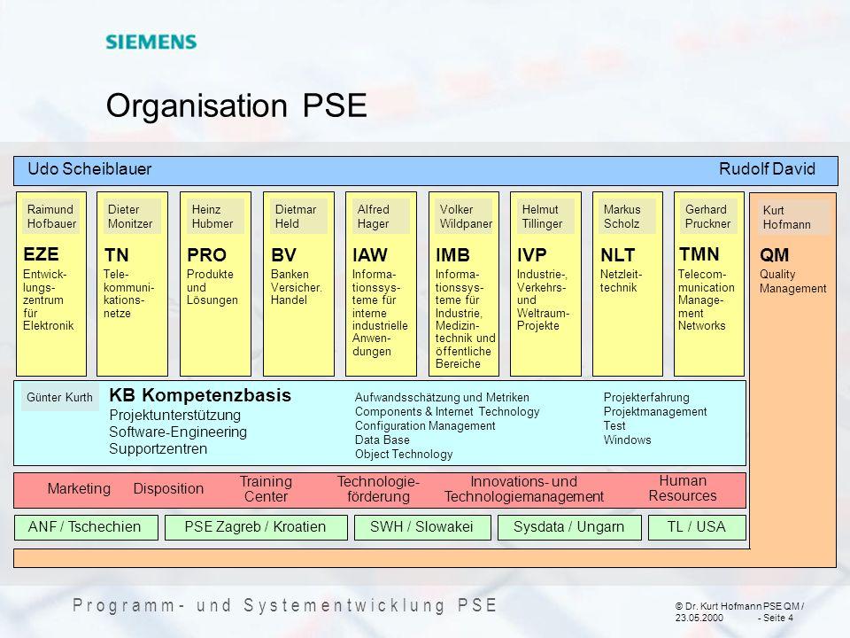 Organisation PSE EZE TN PRO BV IAW IMB IVP NLT TMN QM