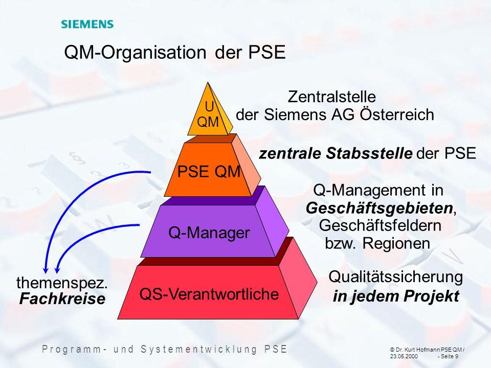QM-Organisation der PSE