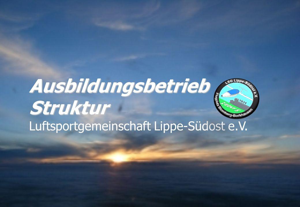 Ausbildungsbetrieb Struktur Luftsportgemeinschaft Lippe-Südost e.V.