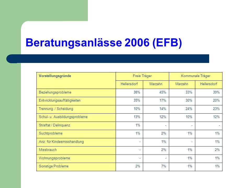Beratungsanlässe 2006 (EFB)