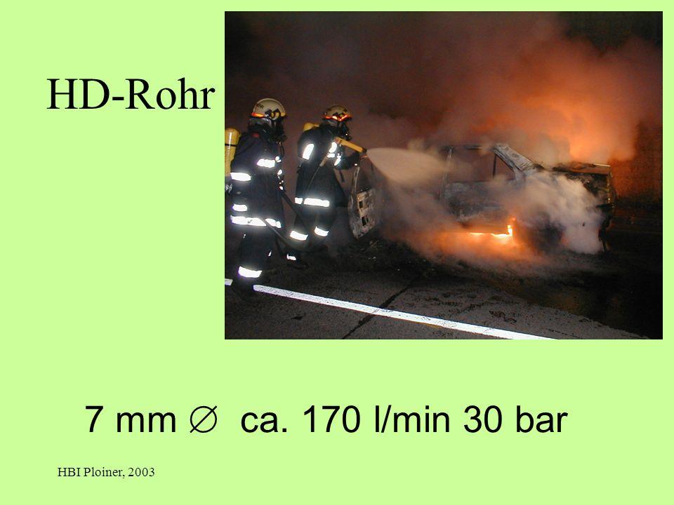 HD-Rohr 7 mm  ca. 170 l/min 30 bar HBI Ploiner, 2003