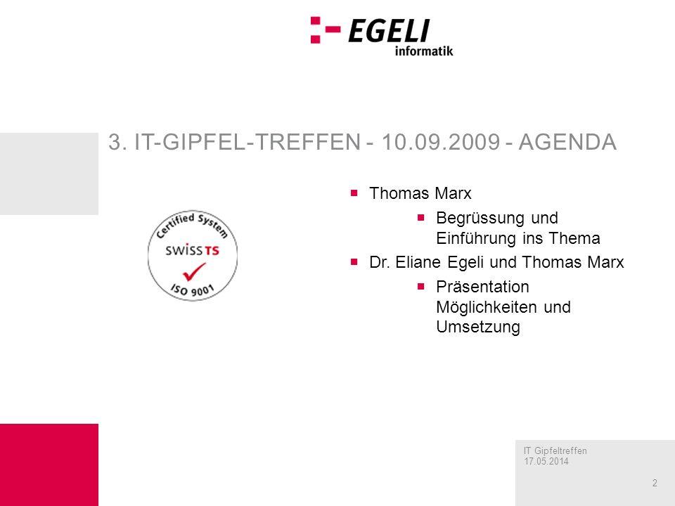 3. IT-Gipfel-Treffen - 10.09.2009 - agenda