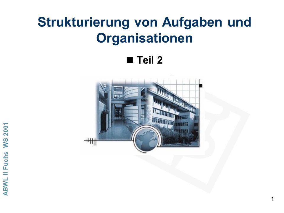 Strukturierung von Aufgaben und Organisationen