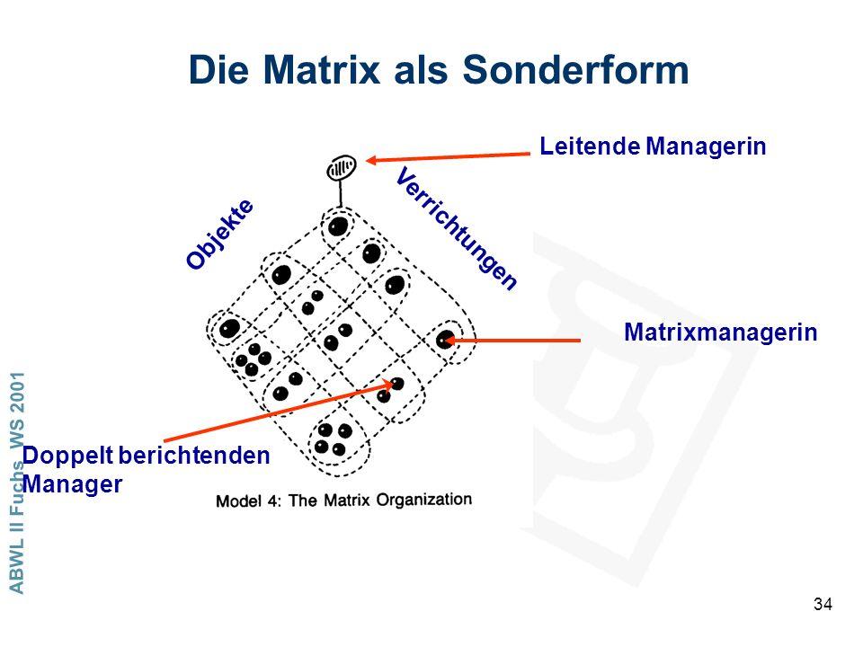 Die Matrix als Sonderform