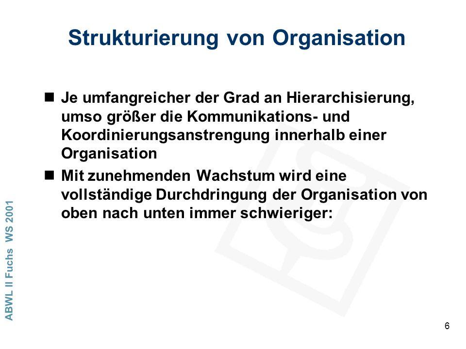Strukturierung von Organisation